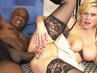 pierced milf ass fucked black monster