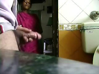 maid caught jerking cock likes
