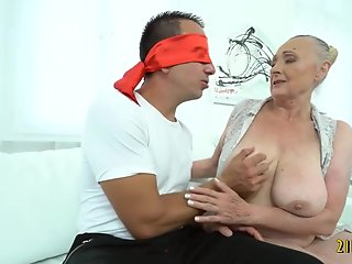 horny granny having fun
