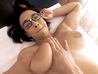 thick short geek girl braces massaged