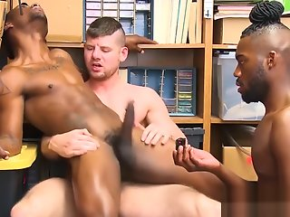 thieving ebony jock barebacked interracial police