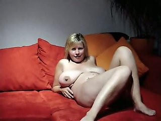 busty wife cheating friend sofa