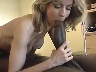 wife cuckholds huge girthy black cock