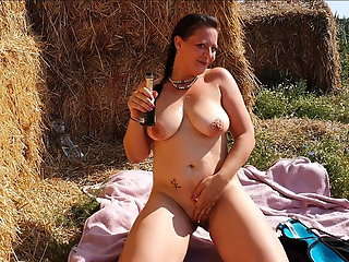 huge tits german milf fuck outdoor