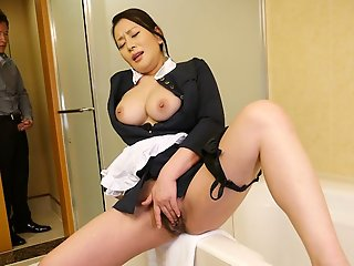 rei kitajima naughty maid caught masturbating