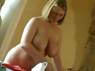 bg tits blond maid gets ass