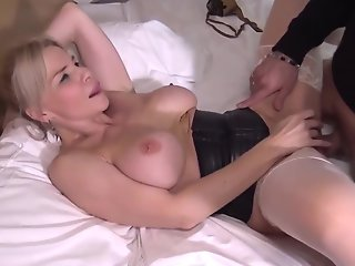 blonde mature analized facialed