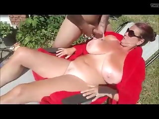 boobs milf outdoor handjob