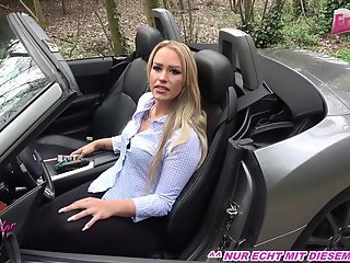 german amateur blonde milf public car
