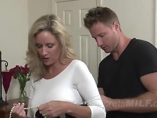 horny blonde milf loves younger cock