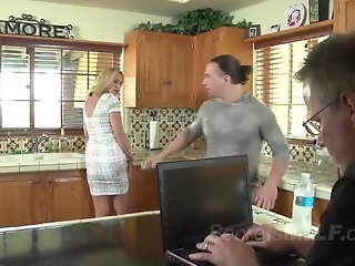 blonde milf gets seduced horny stud