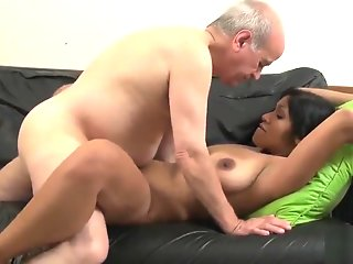 grandfather fucks horny bride