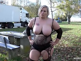bbw blonde erotic lingerie handsome stranger