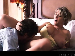 titted stepmom fucks nerdy stepson