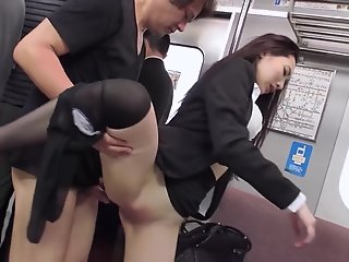 japanese office lady fucked crowded train