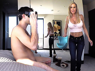 brandi love stepmom plays gamer stepsonвђ™s