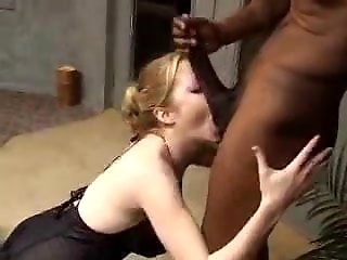 hubby watches blonde wife fucked black
