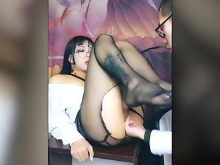 crossdresser japanese secretary fucking intensely
