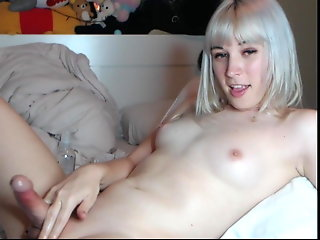 cute blonde femboy natural tits