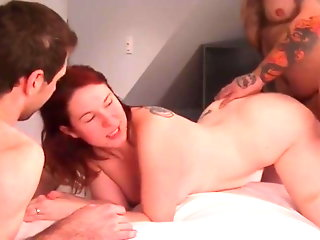 wife creampied twice awesome trio