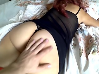 son fucked mom ass bed anal