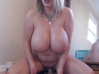 busty dildo ride cums hard