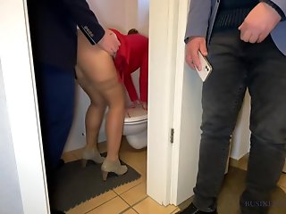 wife fucked ceo office restroom husband