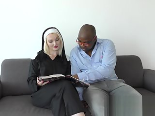 nun getting black cock