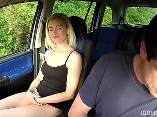 czech bitch gets anally fucked car