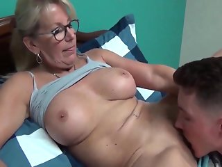 horny son bed time mature busty